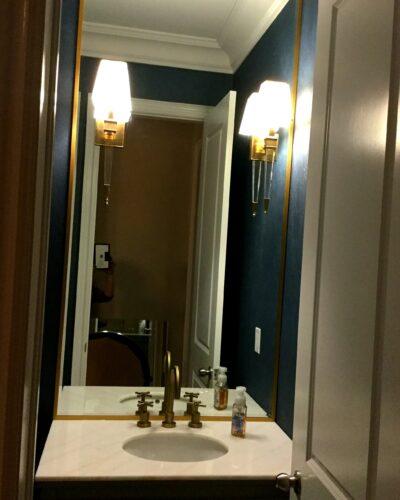 "Vanity Mirror w/ 5/8"" J-Mold Brass Frame"