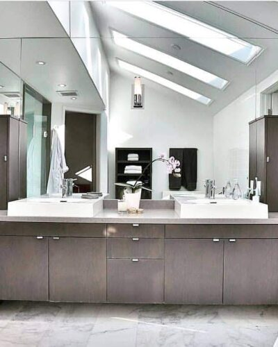 Barbini Corporation - Master Bathroom - Mirrors and Shower Enclosure supply