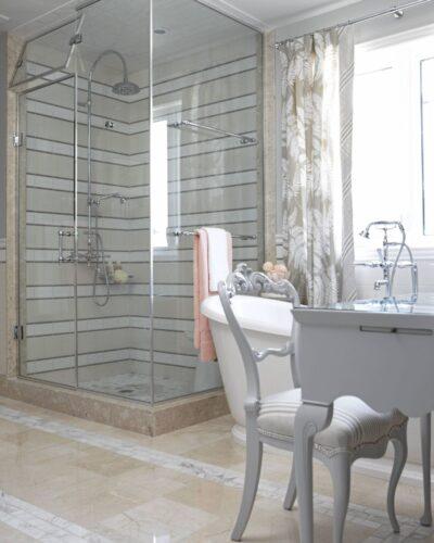 Sarah Richardson Design Featured in Globe & Mail - Shower Glass Enclosure