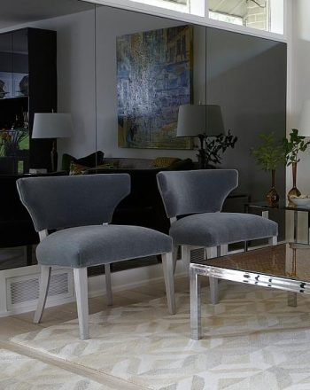 Sarah Richardson Design Blog - Midcentury Remix - Custom Grey/Smoked Glass Wall