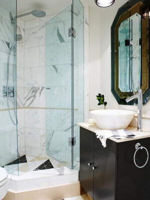 Sarah Richardson Design - Vintage Modern Condo Guest Bathroom