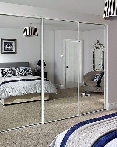 3-Panel Framed Mirror Sliders