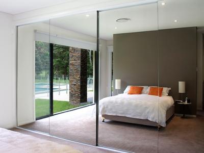 4-Panel Frameless Mirror Closet Sliders