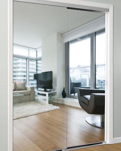 Frameless Mirror Closet Sliders
