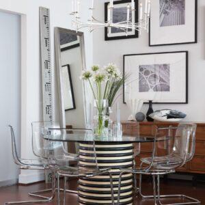 Sarah Richardson Design - Curated Condo - Custom Glass Table Top