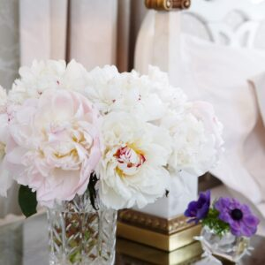 Sarah Richardson Design - Naturally Neutral - Antique Mirror on tops of Side Tables - March 2011