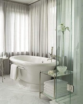 Sarah Richardson's Contemporary Century Bath - Glass Shower Enclosure
