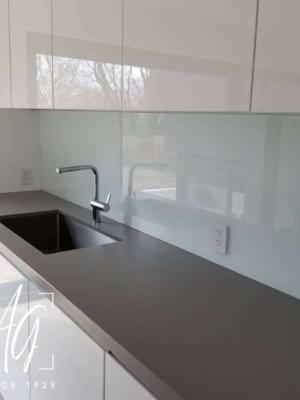 Backpainted Glass Backsplash