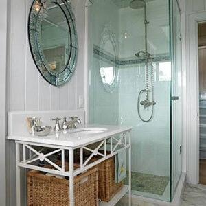 Sarah's Cottage for HGTV - Glass Shower Enclosure