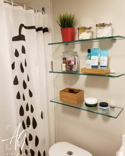 Custom-Glass Floating Shelves