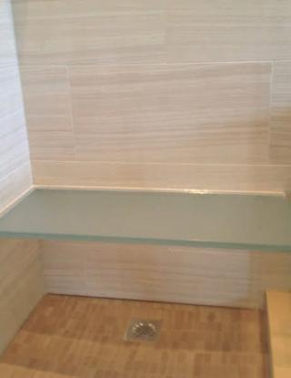 Shower Glass Bench