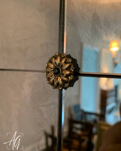 Antique Mirror Wall With Rosettes